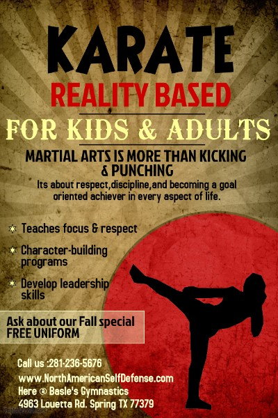 Karate Reality Based For Kids & Adults